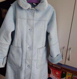 Palton de oaie / haina H & M116 faux bleu de creștere