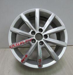 Cast disk 6JH2ET40 Volkswagen Polo R16 oem 6RU601025F (lightly worn) (ckl-3)