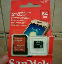 Κάρτα μνήμης Sandisk (Sandisk) 64 Gb