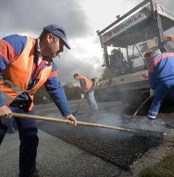 Asfaltarea, așezarea asfaltului în Perm