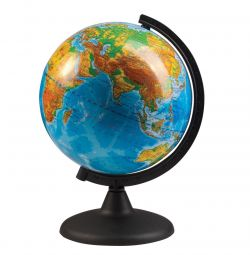 Globe with a physical map of the Earth