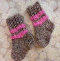 Bebek örme çorap