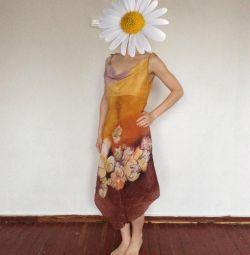 Сарафан батик из натурального шелка