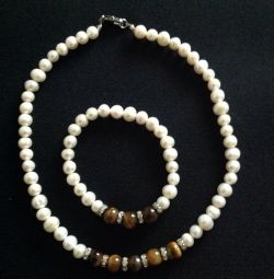 Set-necklace and bracelet