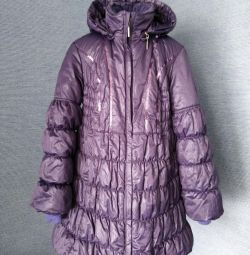 Coat for girls 8-10 years (140cm)