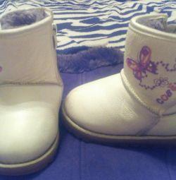 Χειμερινές παιδικές μπότες από γνήσιο δέρμα