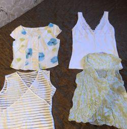 Topuri / bluze / tricouri 4 piese mărime 42-44
