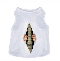 Îmbrăcăminte pentru animale 3D vesta Tricou Nou