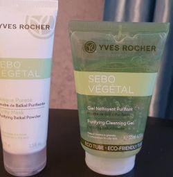 Yves Rocher Mască de curățare și gel de curățare