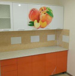 Kitchen set mdf peach