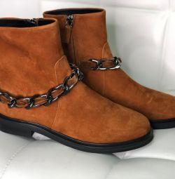 Ботинки Casadei нубук новые