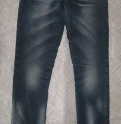 Warm jeans for a girl 12-13 liters (height 158-164 cm)