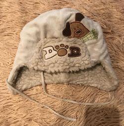Зимняя шапка для мальчика 5-6 лет