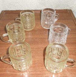 Κούπες (ποτήρια). Τεχνικό γυαλί. ΕΣΣΔ