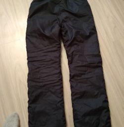 Утепленные брюки детск.152