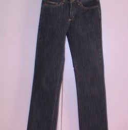 Jeans size 27. On height 160