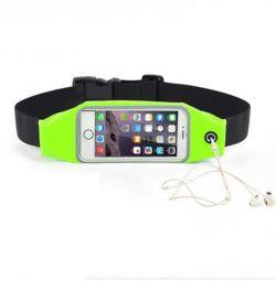 Τσάντα - θήκη τηλεφώνου για jogging κίτρινο 4.7