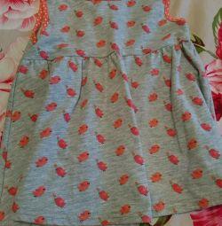 Elbise, çocukça, bir kez boo, büyüme 82-92