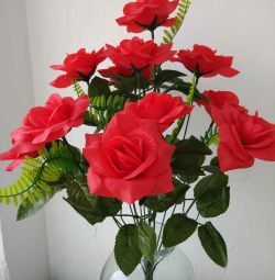 Bouquets of artificial roses