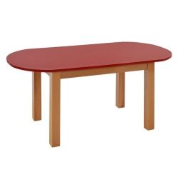 TABLE CHILD HM10185 RED OVAL WITH NATURAL DRY