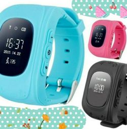 Smart watches for children in stock blue and pink color