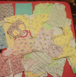 A large package of things a girl 6-12m, 400 rubles
