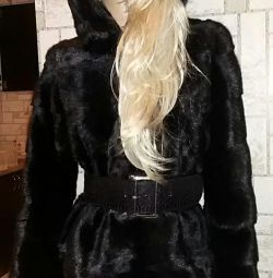 Mink new coat with tag natural