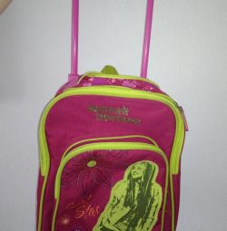 Children's suitcase / backpack on wheels from 2 years