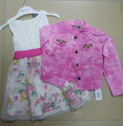 Φόρεμα και dzh.kurtochka για το κορίτσι