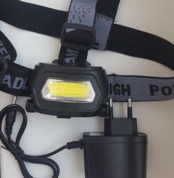 Headband battery. LED flashlight Sh-657