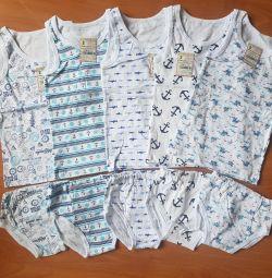 Set de tricouri și chiloți