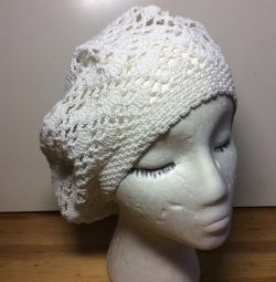 Beret lace, cotton, art 066, size 54-57
