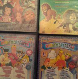DVD диски для детей с мультфильмами