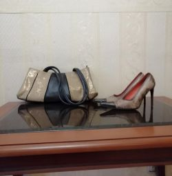 Set of shoes + bag of genuine leather