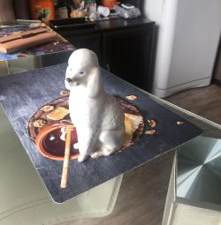 White poodle figurine