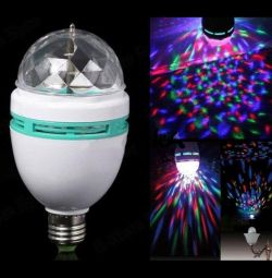 Rotating lamp for parties and parties