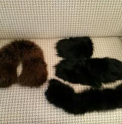 Collar and black pieces of arctic fox