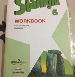 Workbook in English.