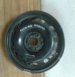 Disc stamped r15 Volkswagen Polo oem 6c0601027 (dent) (skl-3)