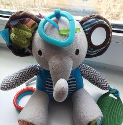 Мягкая развивающая игрушка слоник