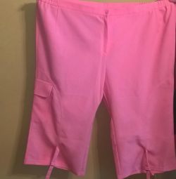 pantaloni roz, dimensiunea 64
