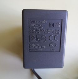 Panasonic PQLV200CE Adapter (6V-300mA)