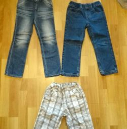 Jeans and breeches for a girl and a boy