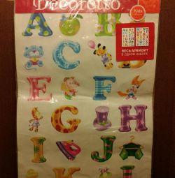 English alphabet stickers