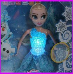 Elsa doll from the cartoon