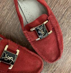 Мокасины натуральная замша вторая обувь