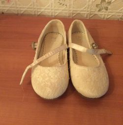 White openwork shoes p 29 new