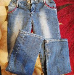 Jeans pentru, fete 130 / 140cm. Cald.