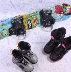 Сноуборд Termit 110 см + крепления + ботинки