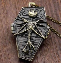 New watch, pocket, pendant, on a chain.